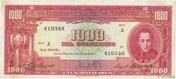 1000 Bolivianos BOLIVIE  1945 P.144 SUP