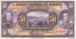 50 Bolivianos BOLIVIE  1928 P.123a pr.NEUF