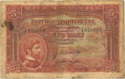 5 Angolares ANGOLA  1926 P.066 B+