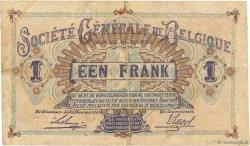 1 Franc BELGIQUE  1915 P.086a TTB