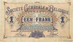 1 Franc BELGIQUE  1915 P.086a TB