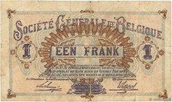 1 Franc BELGIQUE  1916 P.086b TB