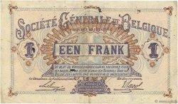 1 Franc BELGIQUE  1916 P.086b TB+