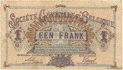 1 Franc BELGIQUE  1917 P.086b TB+