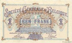 1 Franc BELGIQUE  1917 P.086b SUP+