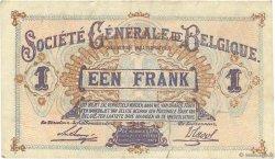 1 Franc BELGIQUE  1917 P.086b TTB