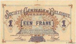 1 Franc BELGIQUE  1917 P.086b TTB+