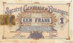 1 Franc BELGIQUE  1917 P.086b TB