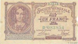 1 Franc BELGIQUE  1918 P.086b TTB