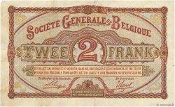 2 Francs BELGIQUE  1915 P.087 TTB