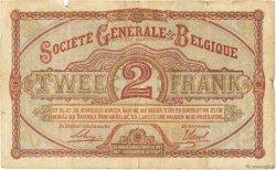 2 Francs BELGIQUE  1915 P.087 B+