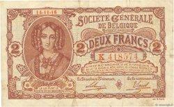 2 Francs BELGIQUE  1916 P.087 TTB