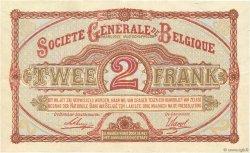 2 Francs BELGIQUE  1916 P.087 SUP