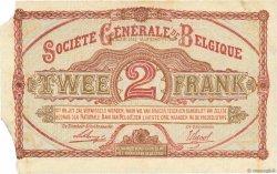 2 Francs BELGIQUE  1916 P.087 TB