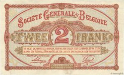 2 Francs BELGIQUE  1916 P.087 TTB+