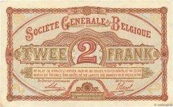 2 Francs BELGIQUE  1916 P.087 SUP+