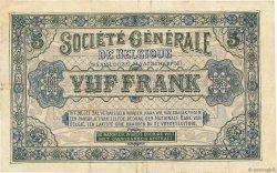 5 Francs BELGIQUE  1916 P.088 TTB