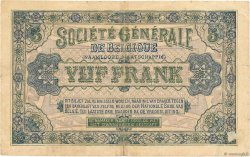 5 Francs BELGIQUE  1917 P.088 TB
