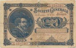 20 Francs BELGIQUE  1917 P.089 pr.TB