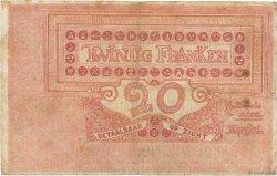 20 Francs BELGIQUE  1914 P.067 B+