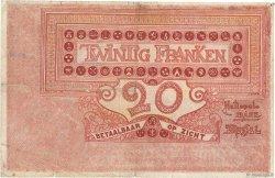 20 Francs BELGIQUE  1919 P.067 TB+
