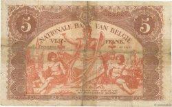 5 Francs BELGIQUE  1914 P.074a B
