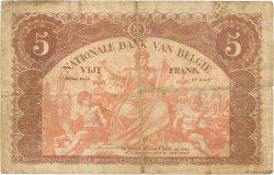 5 Francs BELGIQUE  1914 P.074a B+