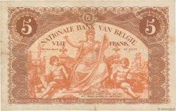 5 Francs BELGIQUE  1914 P.074a TB+
