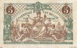 5 Francs BELGIQUE  1914 P.075a TTB