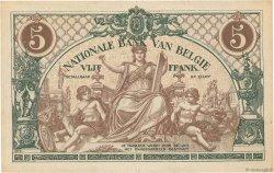 5 Francs BELGIQUE  1914 P.075a SUP