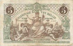 5 Francs BELGIQUE  1918 P.075b TB