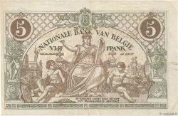 5 Francs BELGIQUE  1918 P.075b TTB