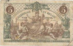 5 Francs BELGIQUE  1919 P.075b B