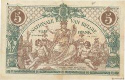 5 Francs BELGIQUE  1919 P.075b pr.SUP
