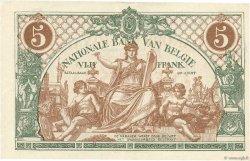 5 Francs BELGIQUE  1921 P.075b SUP
