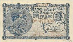 1 Franc BELGIQUE  1920 P.092 pr.NEUF