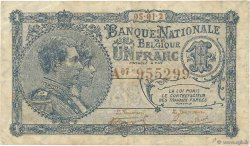 1 Franc BELGIQUE  1921 P.092 pr.TTB