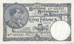 5 Francs BELGIQUE  1923 P.093 TTB+