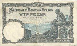 5 Francs BELGIQUE  1924 P.093 TB