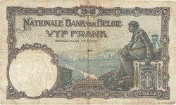 5 Francs BELGIQUE  1925 P.093 B+