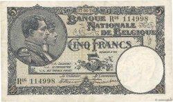 5 Francs BELGIQUE  1926 P.093 TTB