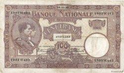 100 Francs BELGIQUE  1926 P.095 TB