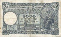 1000 Francs BELGIQUE  1926 P.096 TB