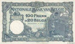 100 Francs - 20 Belgas BELGIQUE  1930 P.102 TTB