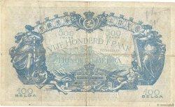 500 Francs - 100 Belgas BELGIQUE  1934 P.103a TB
