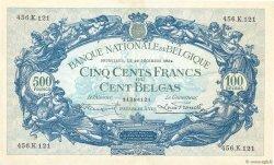 500 Francs - 100 Belgas BELGIQUE  1934 P.103a SUP
