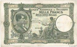 1000 Francs - 200 Belgas BELGIQUE  1928 P.104 B+