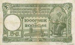 1000 Francs - 200 Belgas BELGIQUE  1930 P.104 B+