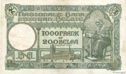 1000 Francs - 200 Belgas BELGIQUE  1933 P.104 TTB