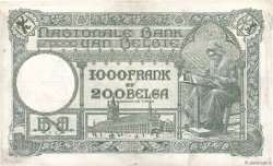 1000 Francs - 200 Belgas BELGIQUE  1933 P.104 TB